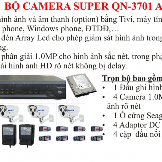 Bộ Camera SUPER 3701 AHD